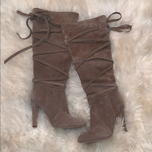 Vince Camuto Nude Knee High boots size 8